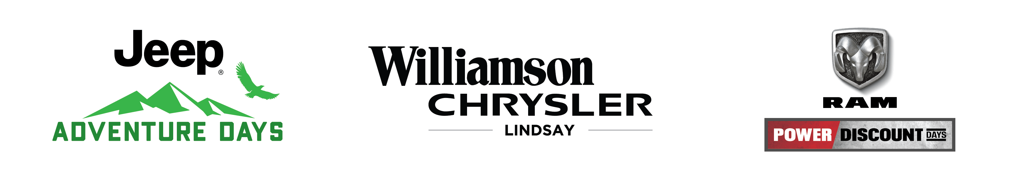 September 2021 Jeep Adventure Days and Ram Power Discount at Williamson Chrysler Lindsay