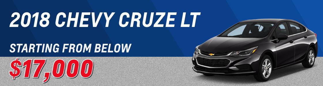 2017 Chevrolet Cruze LT Auto Backup Camera & Heated Seats at