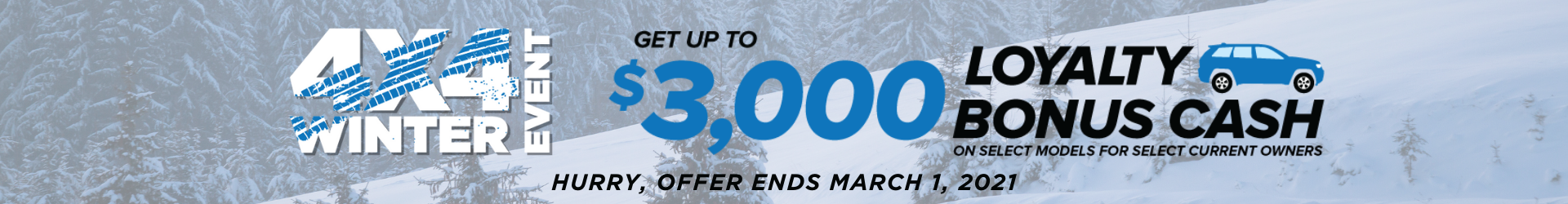 Jeep owners get up to $3,000 in Loyalty Bonus Cash to upgrade!