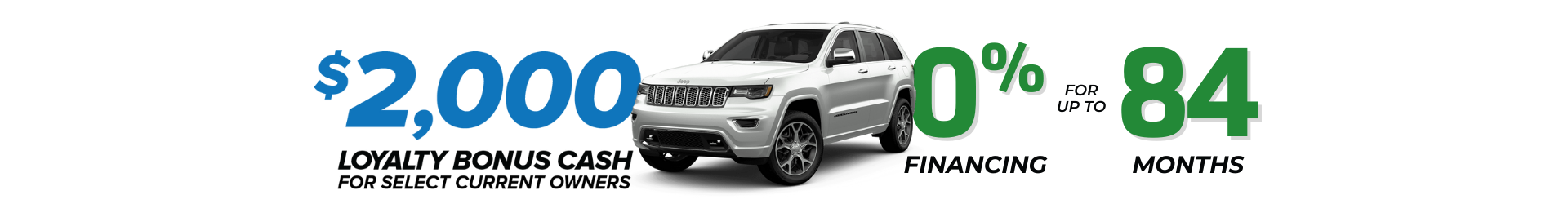 Get 0% financing for 84 months or up to $12,180 in Total Discounts on select 2021 Jeep Grand Cherokee