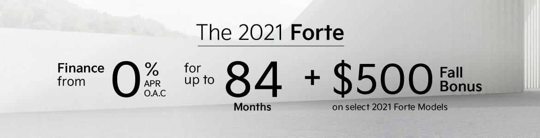 Kia Forte Fall Bonus 2021