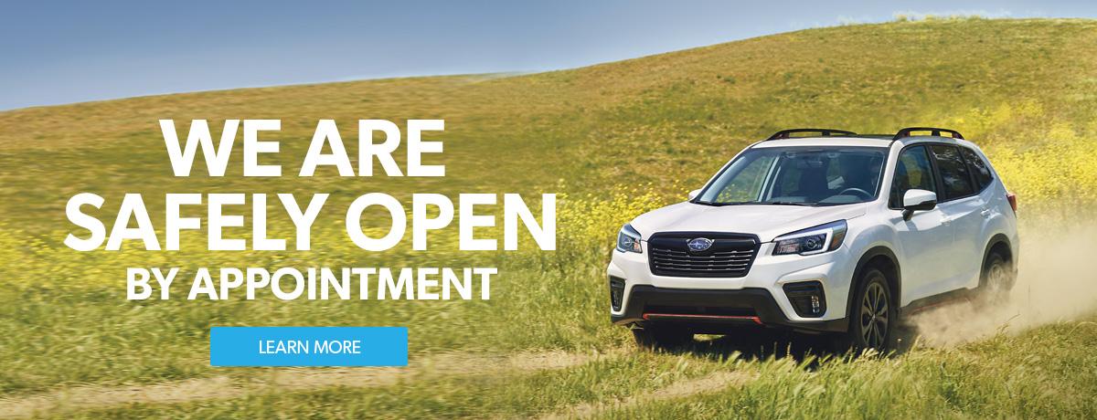 Subaru Dealership is Open