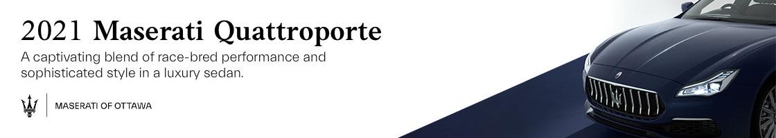 2021 Maserati Quattroporte Promotional Banner