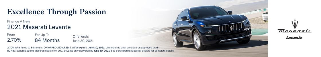 2021 Maserati Levante Promotional Banner
