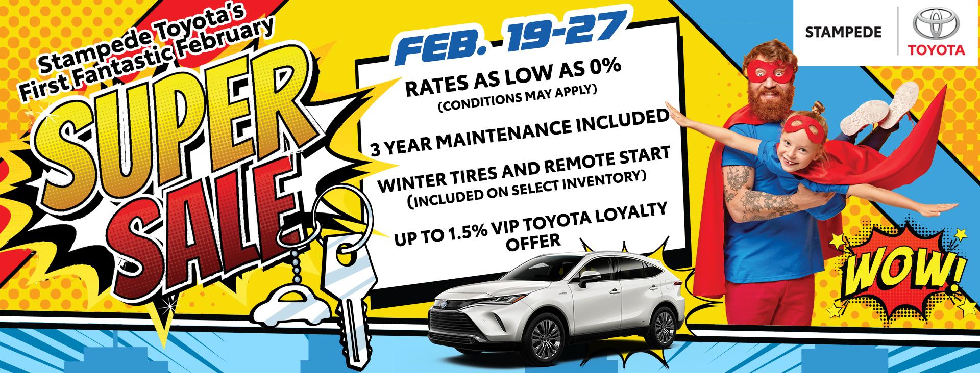 Stampede Toyota's SUPER SALE!