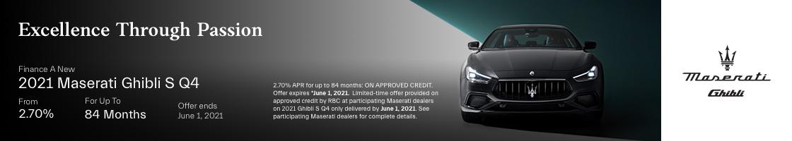 2021 Maserati Ghibli Promotional Banner